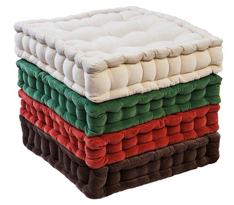 Velvet Seat Booster Cushion Home Floor Cushions Poufs