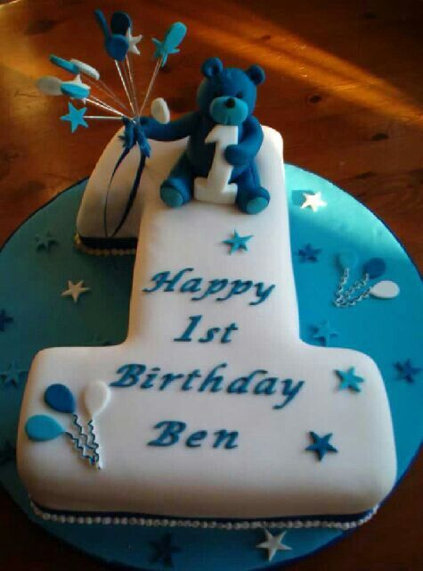 Amazing 1St Birthday Cake With Images 1St Birthday Cakes Boys First Funny Birthday Cards Online Overcheapnameinfo