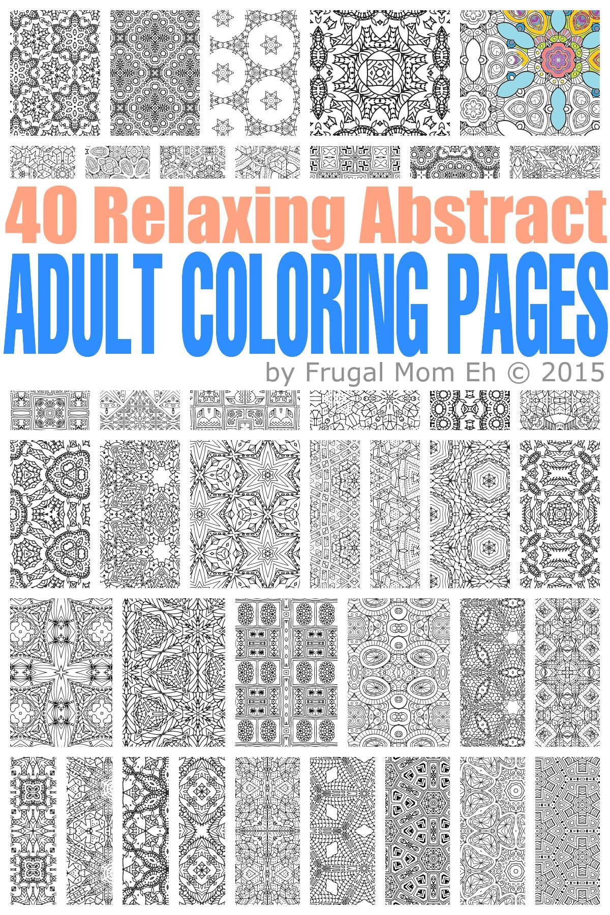 free calming abstract coloring pages coloring