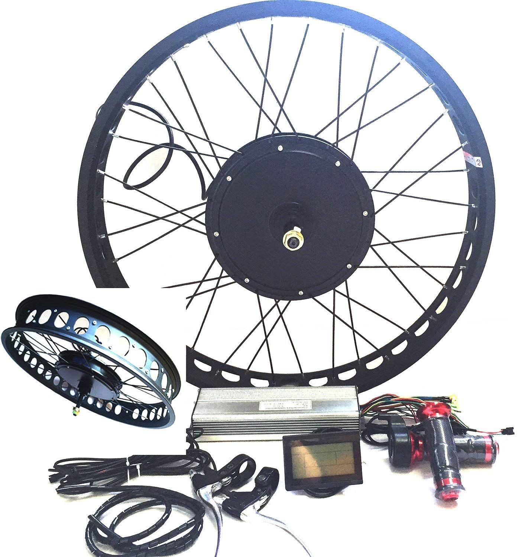 Amazon Com Theebikemotor 3000w Hub Motor Electric Bike Conversion Kit Lcd Disc Brake Rear Wheel Electric Bike Electric Bike Conversion Best Electric Bikes