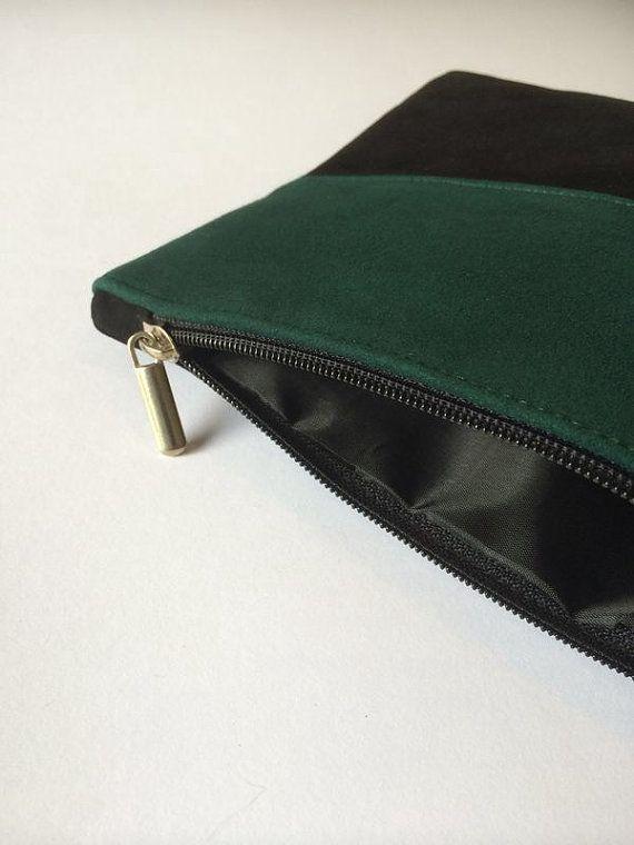 SUEDE POUCH Wristlet clutch Suede bag wristlet by ScandaloAlSole