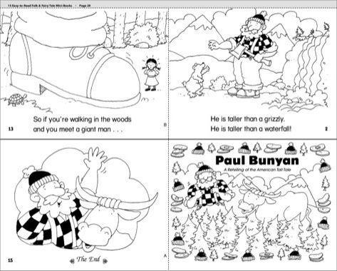 Paul Bunyan Scholastic Printables Paul Bunyan Fairy Tale