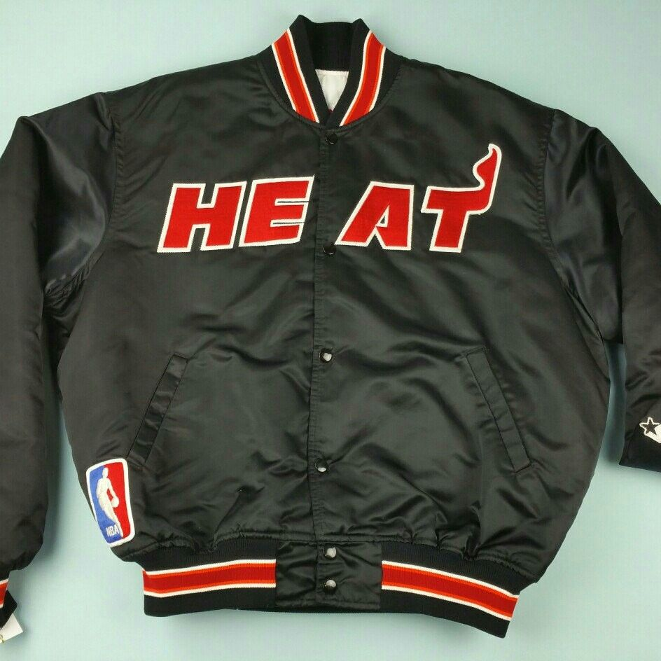 053d5344 Miami 🔥 - How can you not love this Vintage 90's Miami Heat Satin ...