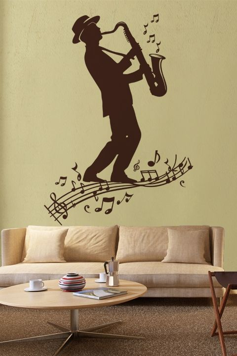 Wall Decals Sax Player Men, Music, Concert, Solo, Sax, Famous ...