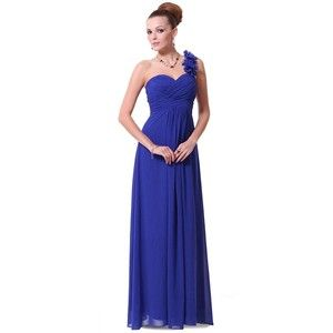 Sapphire Blue Sequined And Metallic One Shoulder Floor Length Dress Sleeveless Bridesmaid Dresses Blue Evening Dresses Red Bridesmaid Dresses