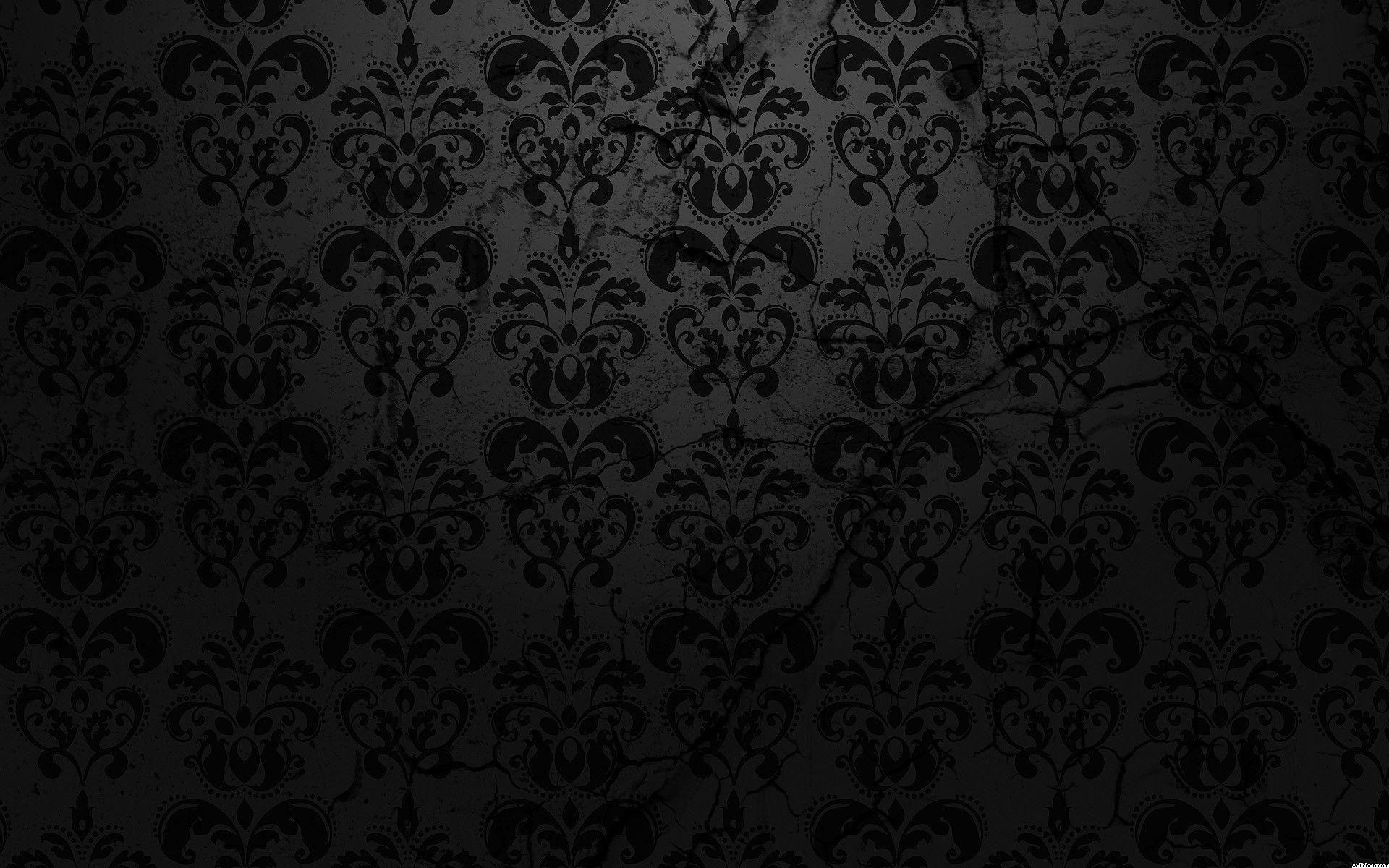 Image result for black damask wallpaper Plain black