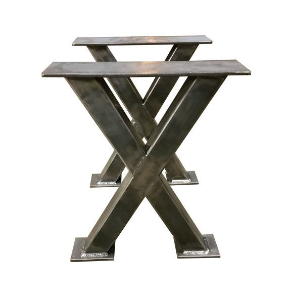 Metal Bench Legs 2x2 Tubing Custom Made Box Legs Steel Table