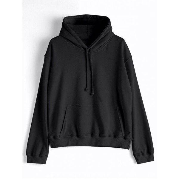 Casual Kangaroo Pocket Plain Hoodie (£24) ❤ liked on Polyvore featuring tops, hoodies, sweatshirt hoodies, hoodie top, hooded pullover, hooded sweatshirt and kangaroo pocket hoodie