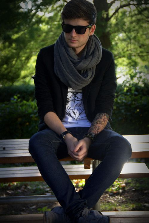 bb41666c7647 scarves add that extra oomph to a man's outfit. | H E | Mens fashion ...