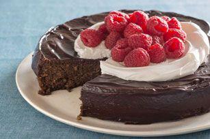 Flourless Chocolate Quinoa Cake with Chocolate Ganache Glaze recipe