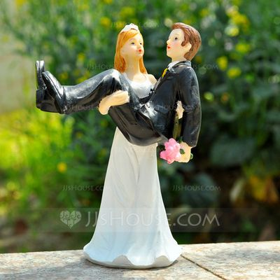 Cake Topper - $18.99 - Bride And Groom Resin Wedding Cake Topper (119036147) http://jjshouse.com/Bride-And-Groom-Resin-Wedding-Cake-Topper-119036147-g36147