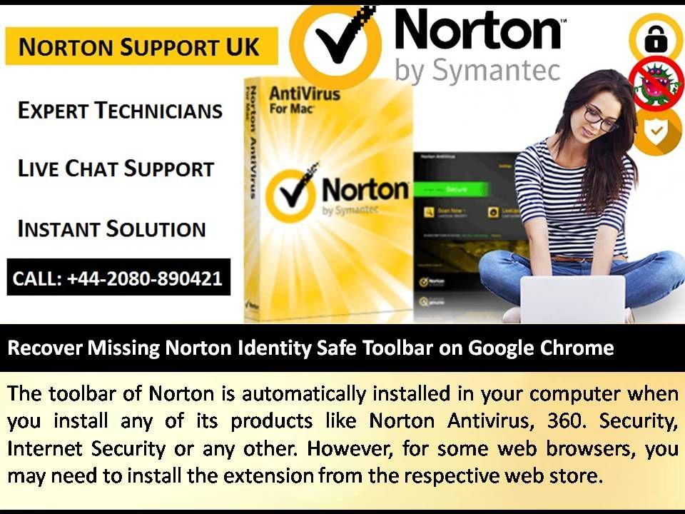 Recover Missing Norton Identity Safe Toolbar On Google Chrome