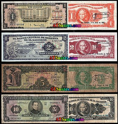 El Salvadore Currency Salvador Banknotes Paper Money Catalog And Salvadoran