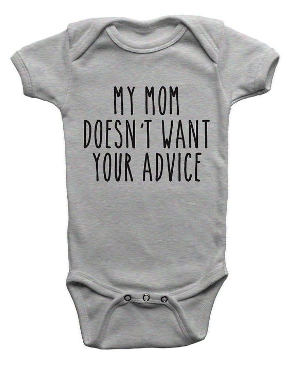 108073062 Funny Baby Bodysuit Onepiece My Mom Doesn't Want Your Advice New Baby Shower  Gift Idea Niece Nephew Infant Newborn 6M 12M 18M Shirt Tee