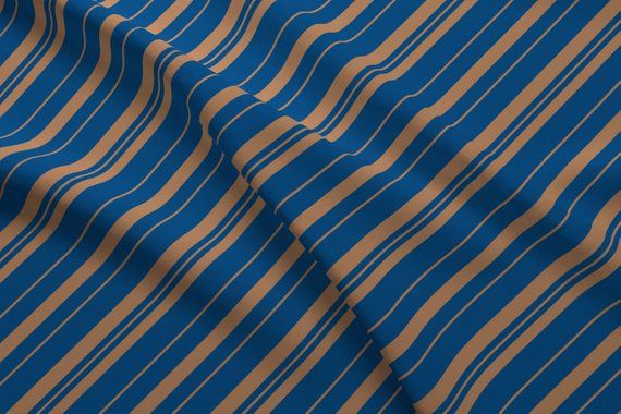 Raven Fabric House Colors Stripes By Aliceelettrica Blue Bronze Diagonal Cotton Fa