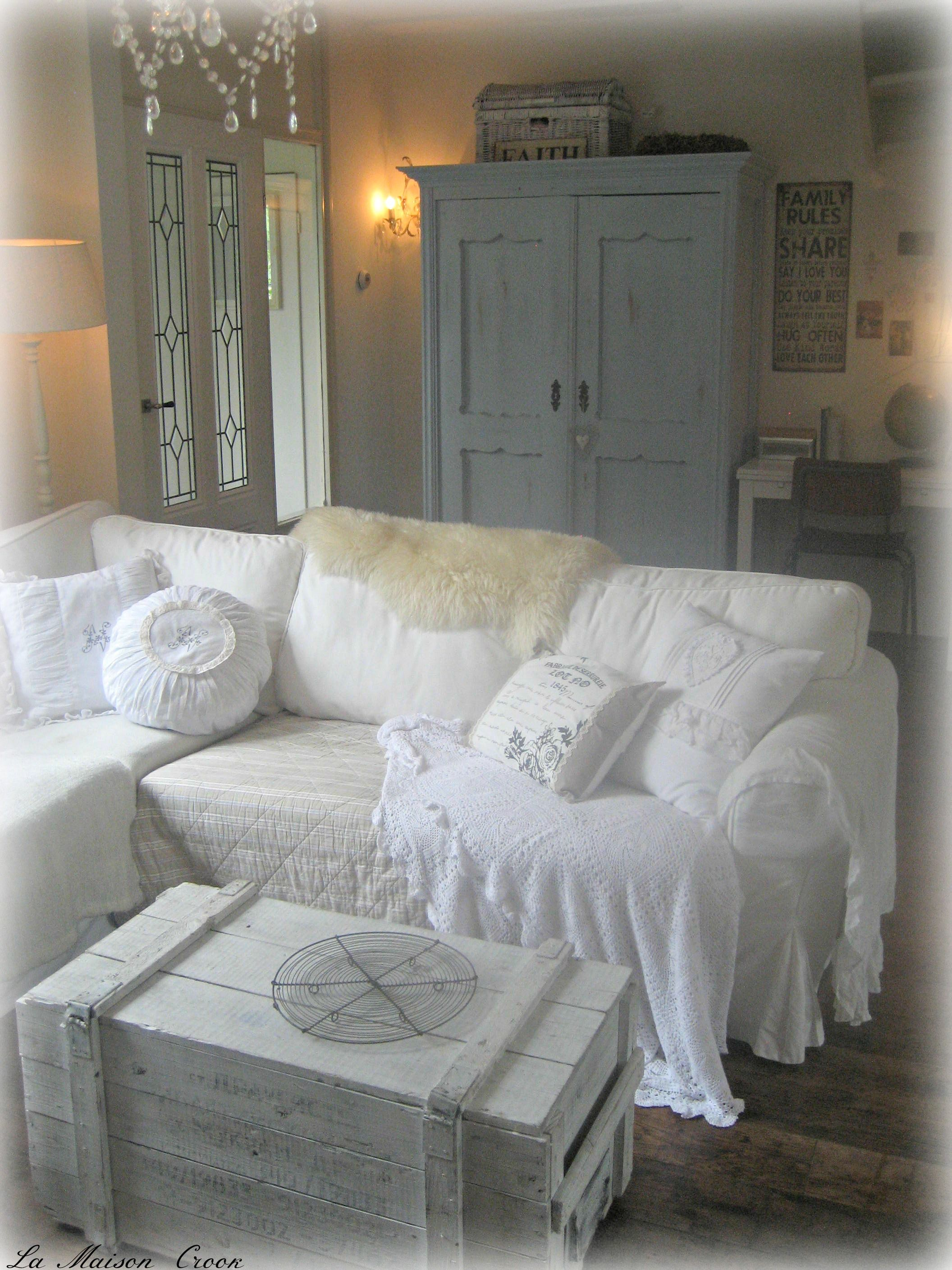 Brocante woonkamer living room shabby chic c o u n t for Brocante woonkamer