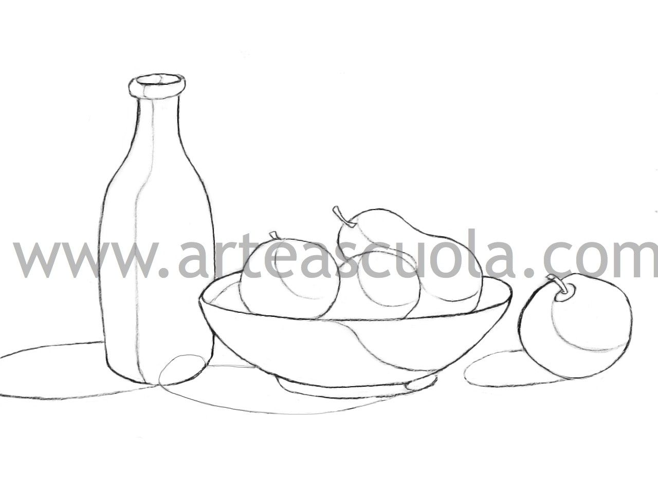 Disegni Da Colorare Natura Morta Frutta.Ombreggiare Una Natura Morta Foglio Di Lavoro Abstract Backgrounds Still Life Abstract