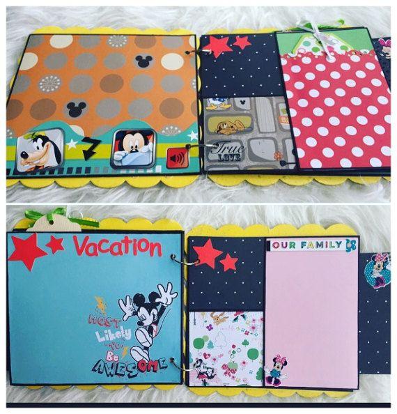 Disney Scrapbook Album Premade Scrapbook Album Disney Album
