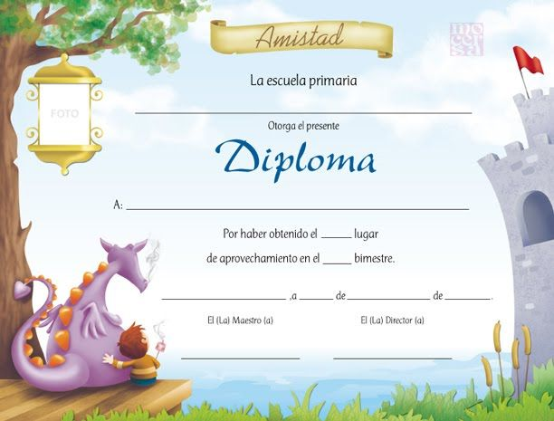 Diplomas Infantil Plantillas Teaching Spanish Education Diploma