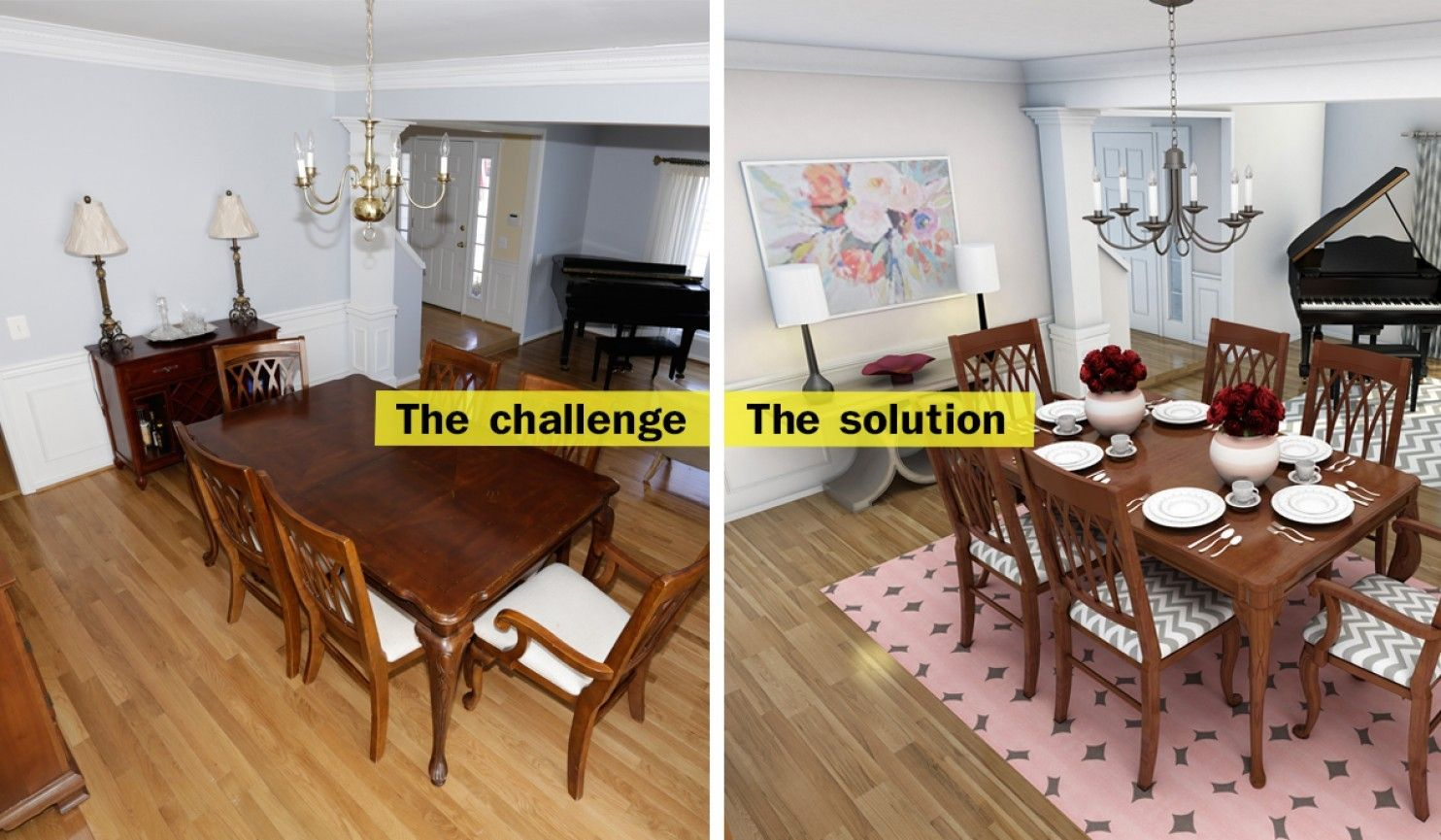 Upcycle Hand Me Down Furniture To Fit Your Style Hereu0027s How You Can Fit  Traditional Pieces Of Furniture In A Modern Living And Dining Space. ...
