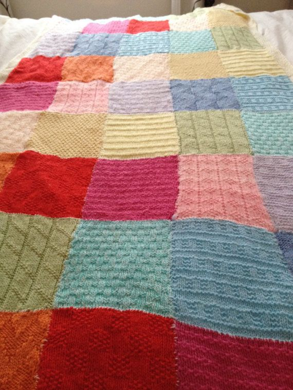 Patchwork Baby Blanket Knitting Pattern Pdf Instant Download 11
