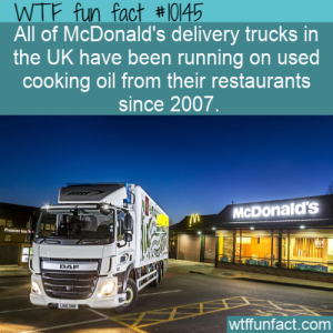 WTF Fun Fact - Cooking Oil Fuel