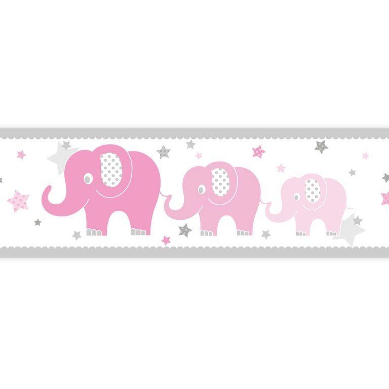 Dinki Balloon Kinderzimmer Bordure Elefanten Rosa Grau Selbstklebend Bei Fantasyroom Online Kaufen Kinder Zimmer Rosa Grau Kinderzimmer