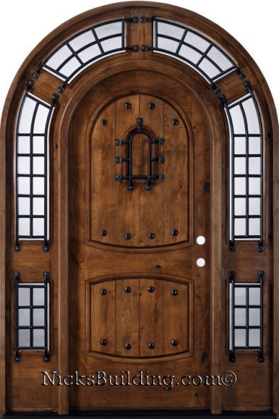 log homes with arched doors | Tudor Arched Front Door - All Things Heart and Home & log homes with arched doors | Tudor Arched Front Door - All Things ...