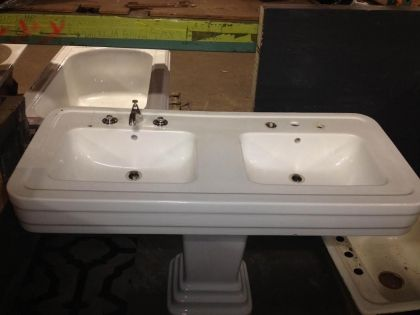 Double Basin Pedestal Sink Build It Green Nyc Pedestal Sink