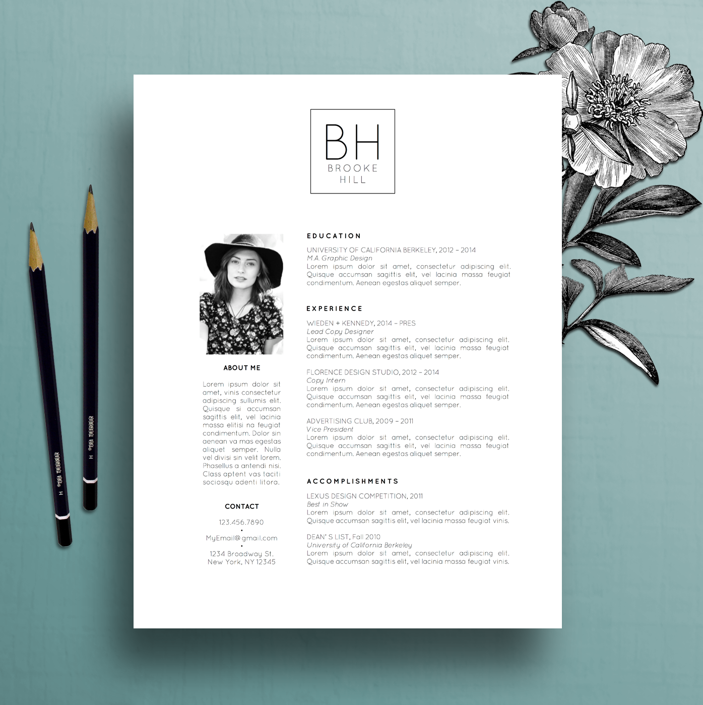 Modern Resume Template Professional Cv Template Ms Word Creative