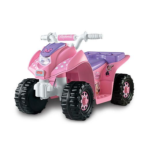 Power Wheels Lil Quad Ride On Minnie Mouse Power