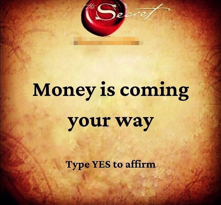 The secret Law of attraction universe | money