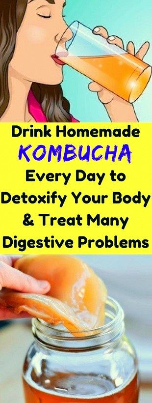 Drink Homemade Kombucha, Every Day To Detoxify, Your Body & Treat Many Digestive, Problems!!!  #life...