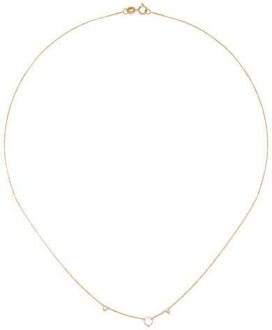 Three Step 14-karat Gold Multi-stone Necklace - one size Wwake aBYBKyYE