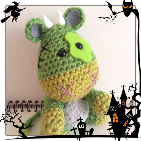 Crochet amigurumi zombie cow by MyLittleBeastie on Etsy