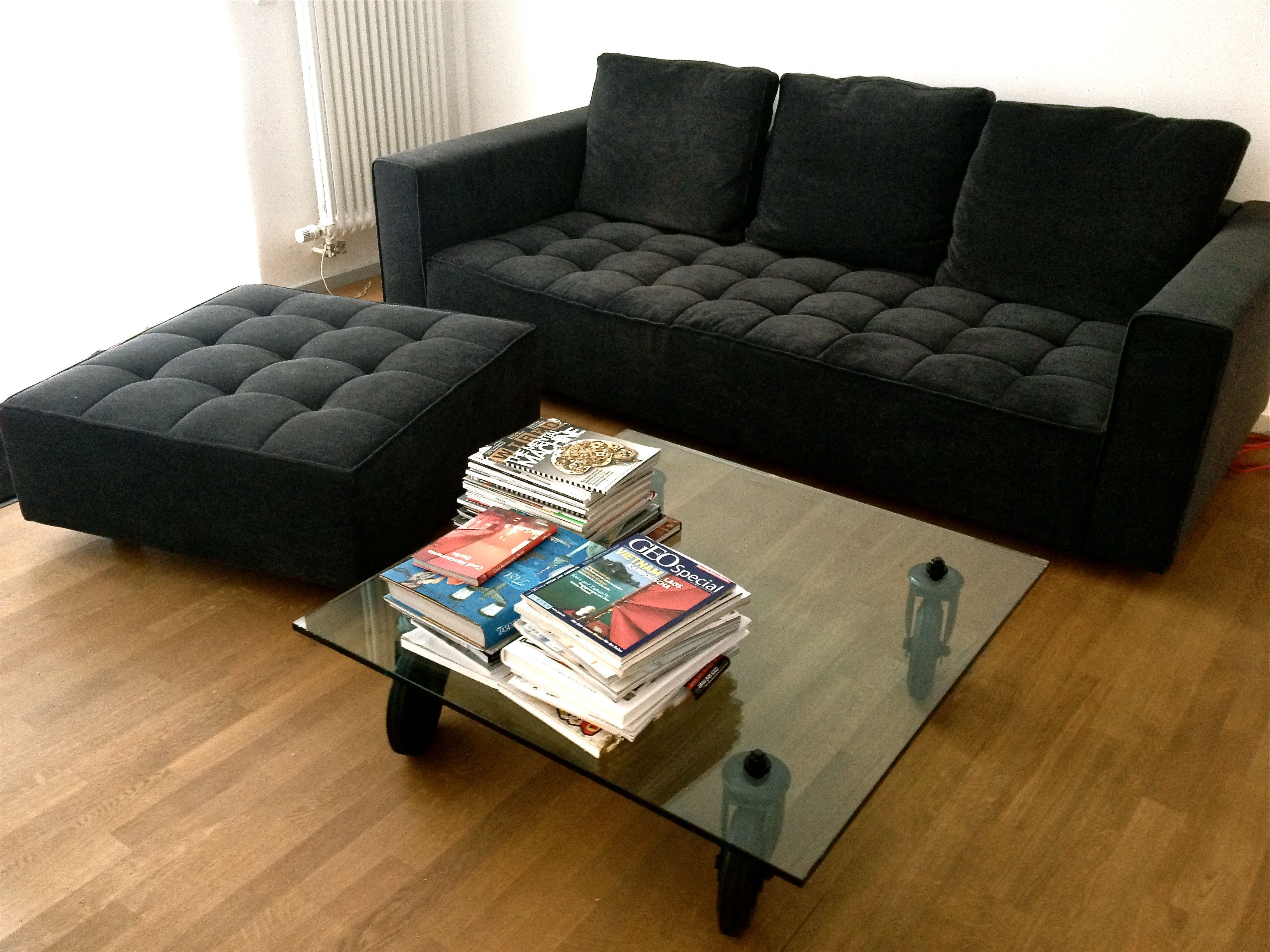There it is Sofa Kilt by Zanotta Table Tavolo con Ruote by