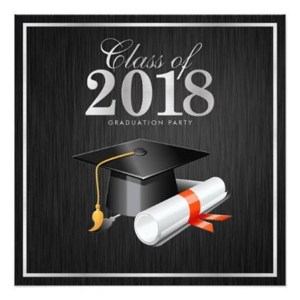 class of 2018 party graduation invitation graduation party