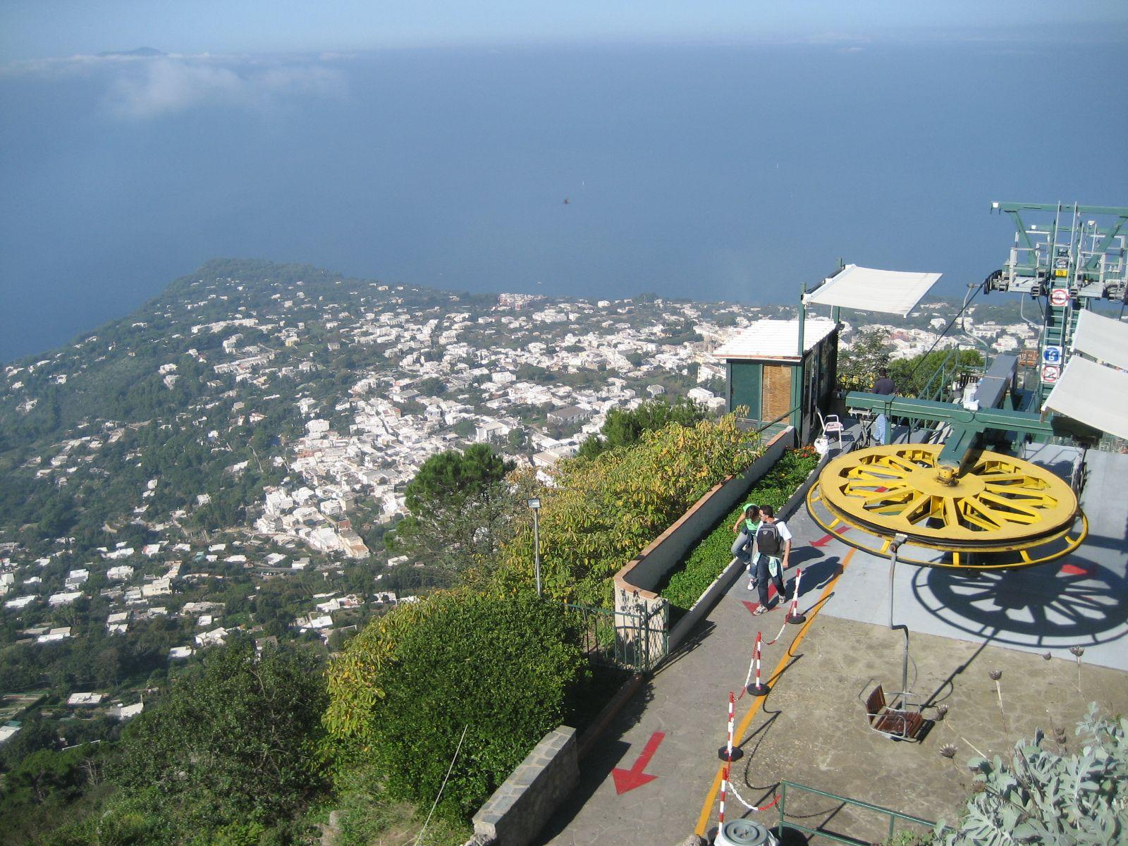 chairlift on anacapri capri pinterest capri italy italy