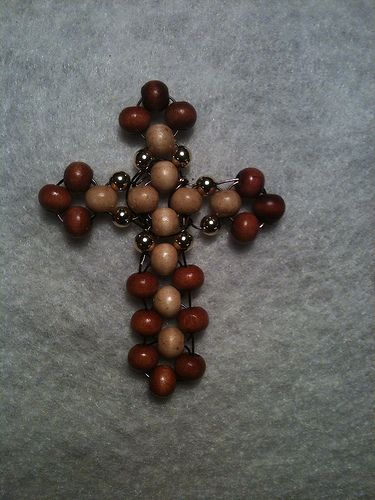 Beaded Wood Cross Crosses Cross Necklace Diy Wood Crosses