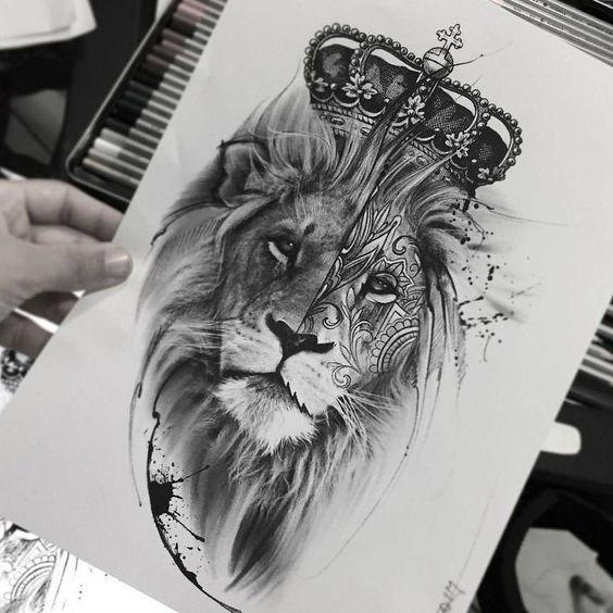 tattoos for men, lion tattoo template, lion tattoo for men, lion tattoo model is part of Lion tattoo design -
