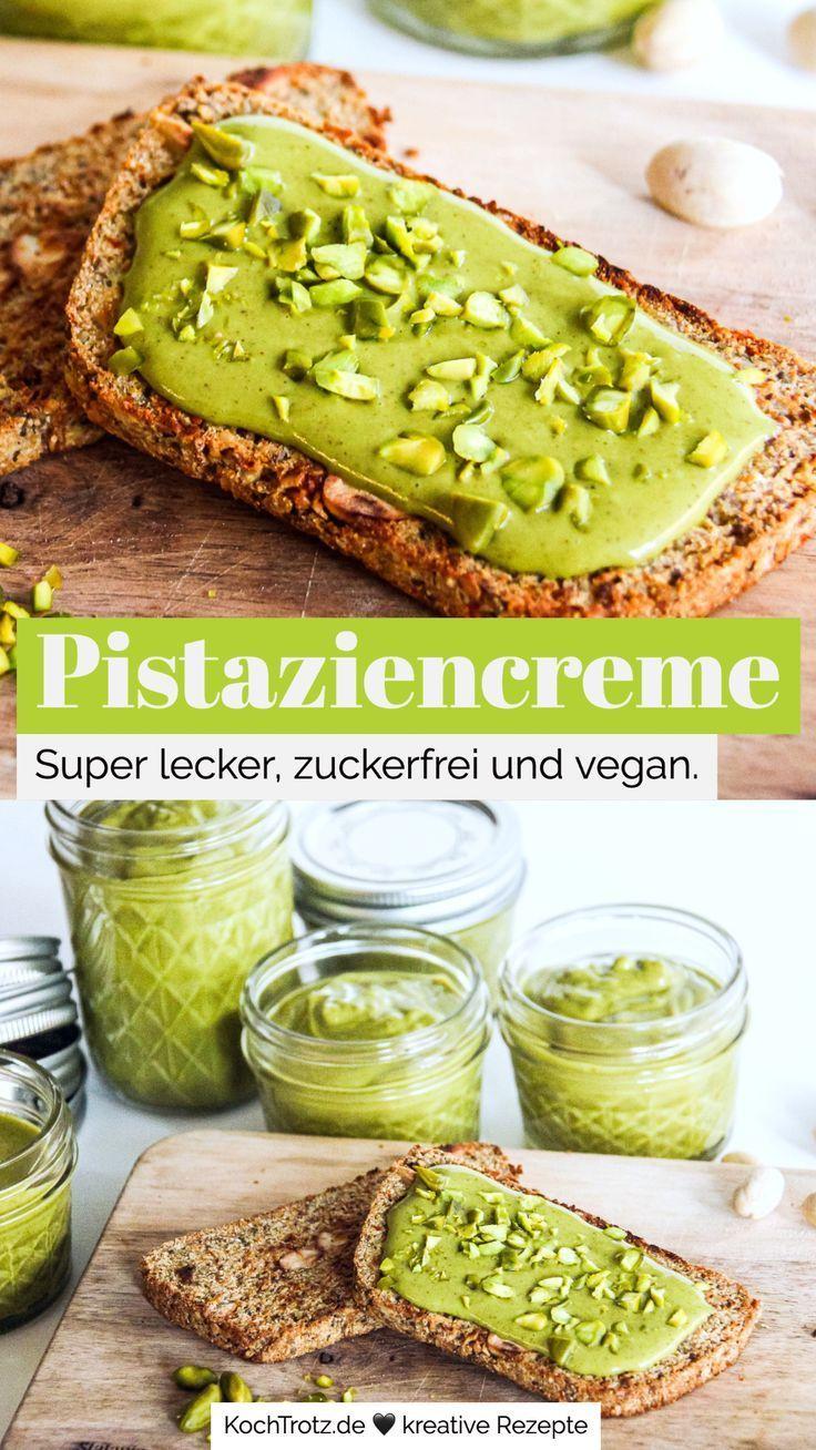 Photo of Cream with white chocolate and pistachios – optionally vegan – KochTrotz | Foodblog | Enjoyment despite the egg
