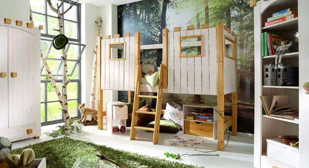 Popular Hochbett Kids Paradise aus Holz f r Ihr Kinderzimmer im Ritterburg Design