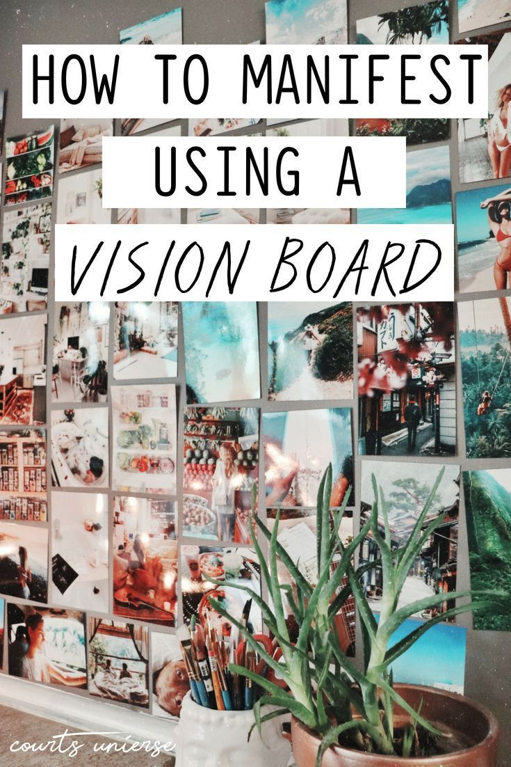 Vision Boards are excellent manifesting tools! Learn how to manifest using a vision board. #manifesting #lawofattraction #visionboard #manifest