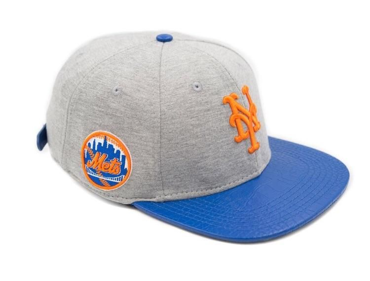 f0fe026f8 Pro Standard New York Mets Gray MLB Logo Strapback Hat – Sharpblends Trends