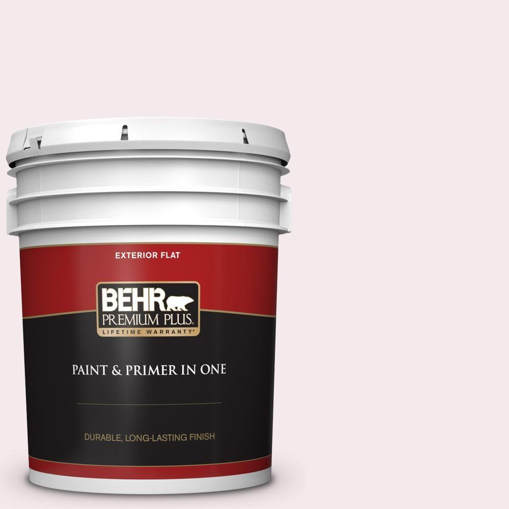 Behr Premium Plus 5 Gal 680c 1 Wispy Pink Flat Exterior Paint And Primer In One Behr Interior Paint Exterior Paint
