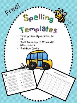 FREE spelling test and activities templates | Letterland / Spelling ...