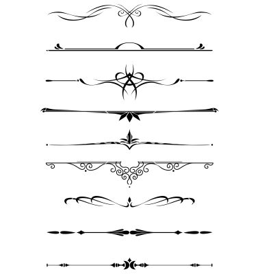 Vintage dividers and borders vector 1347851 - by Seamartini on ...