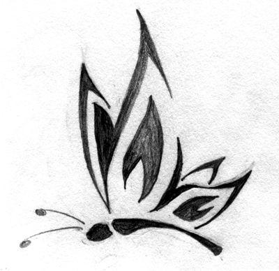 Butterfly Tattoo By Frumpysf On Deviantart Simple Butterfly Tattoo Butterfly Tattoo Designs Tribal Butterfly Tattoo