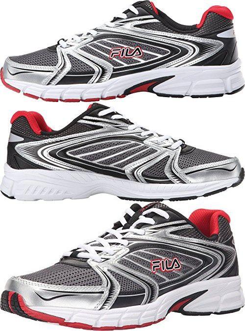 Fila Men's Reckoning 7 Athletic Sneakers, Grey Leather, Mesh