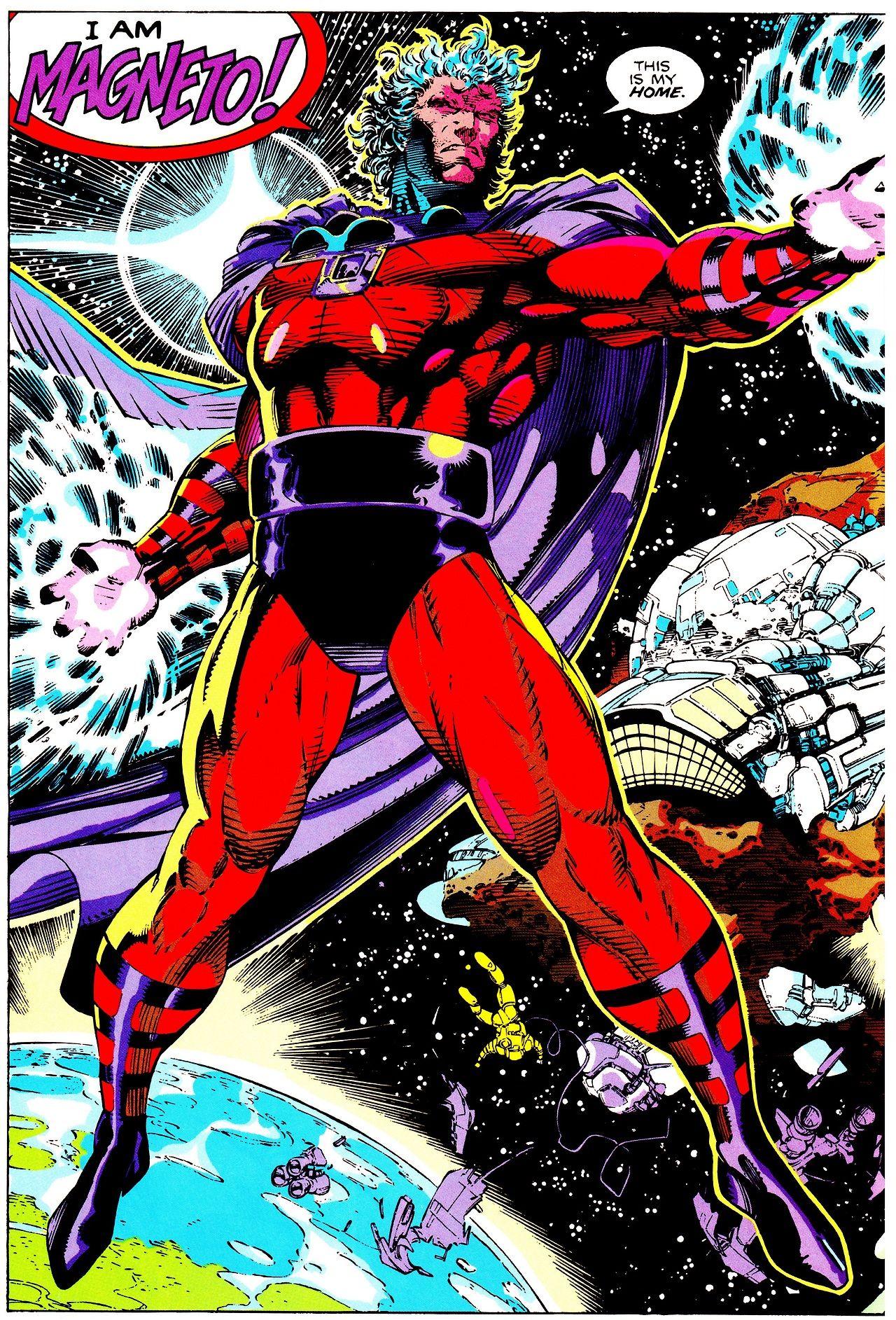 Magneto At Asteroid M X Men Vol 2 1 Oct 1991 Art By Jim Lee Pencils Scott Williams Inks Joe Rosa Marvel Comics Superheroes Marvel Villains Jim Lee